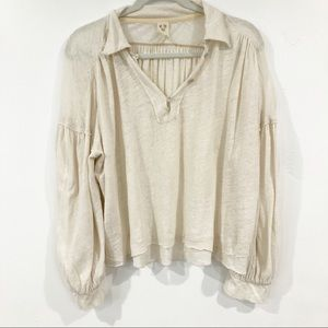 We the Free Oversized Button blouse